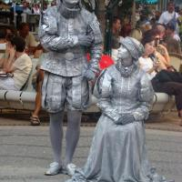 Living statues of Vienna